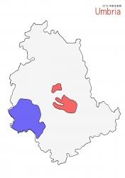 ウンブリア白地図大