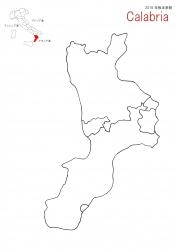 カラブリア白地図①