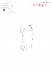 サルディーニャ白地図②