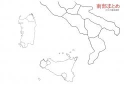 南部まとめ白地図