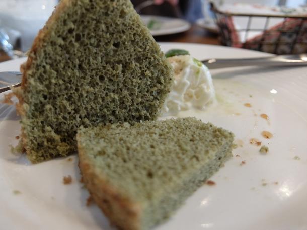 塩抹茶のシフォンケーキ