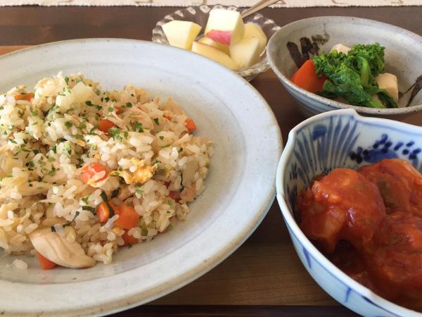 Jan12_鶏ささみの塩味炒飯