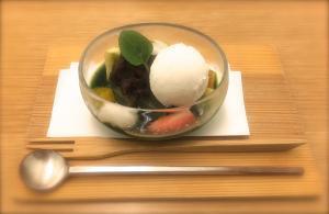 Desserts(Matcha Anmitsu)