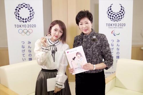 元AKB48たかみな、小池都知事と東京の将来語り合う