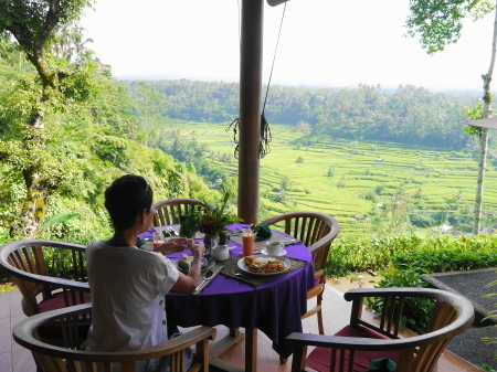 絶景の朝食