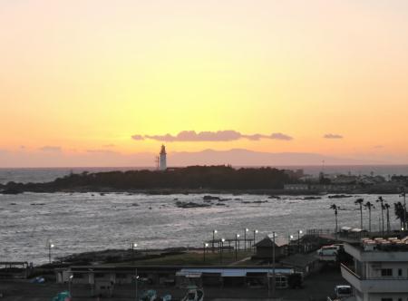 野島崎灯台の夕焼け