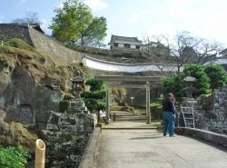 №02・「古橋口」の石橋と鳥居