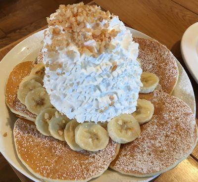 エッグスンシングス バナナのパンケーキ