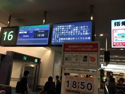 日本航空 JAL137便大阪行きです