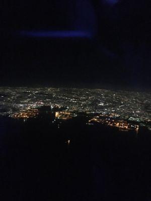 日本航空 羽田空港離陸後の夜景