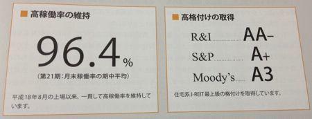 日本アコモデーションファンド投資法人 高い格付