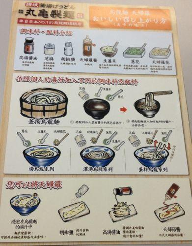 台湾の丸亀製麺 うどん・天ぷらの食べ方