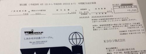 9433 KDDI 中間配当金