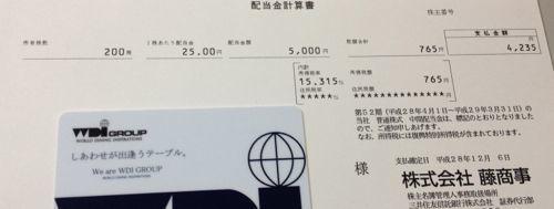 6257 藤商事 配当金