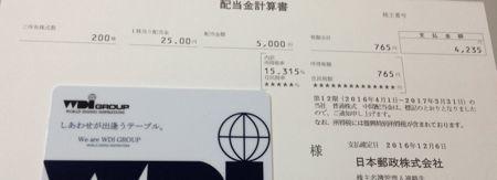 6178 日本郵政 配当金