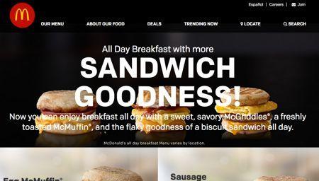 MCD マクドナルド 1日中販売の朝食