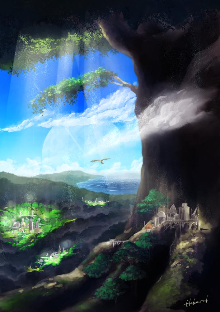 世界樹の麓(想像図)