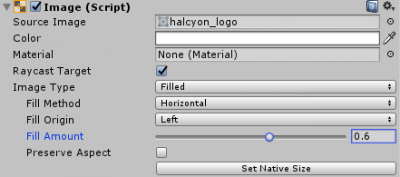 Unity】uGUI-ImageのImageTypeをFilldeにすると割合で表示できるっすね