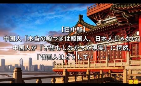 【動画】中国人「本当の嘘つきは韓国人、日本人じゃない」中国人が『予想もしなかった現実』に愕然 [嫌韓ちゃんねる ~日本の未来のために~ 記事No14323