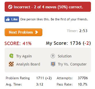 4問目は正答率10.7%(誤答)