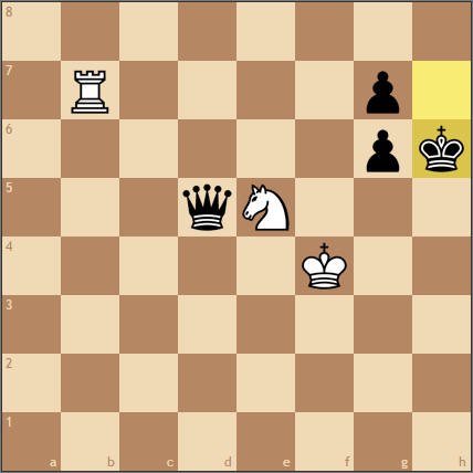 Nf6+でロイヤルフォーク! …って、あれ?