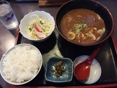 161124一休カレーうどん定食650円