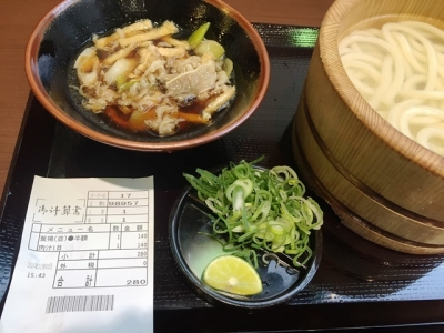 161201丸亀製麺三宮磯上通店毎月1日に限定数で販売される肉汁140円