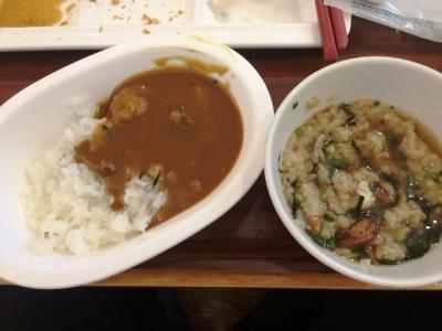 161211リッチモンドホテル浜松朝食ビュッフェ鰻茶漬けとカレー