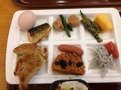 161211リッチモンドホテル浜松朝食ビュッフェ浜松餃子としらす