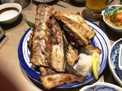 170112いけす酒場ぴち天名駅中落ち焼き大550円