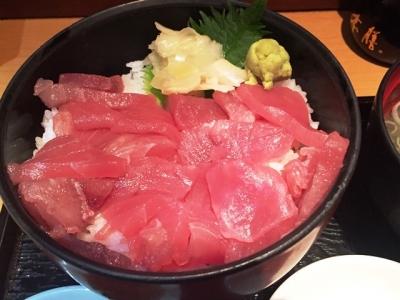161221品川ひおきマグロの切り落とし丼600円マグロたっぷり
