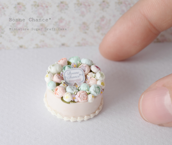 Miniature Sugar Craft Cake1