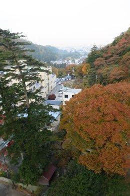 露天風呂からの若松市内の眺望10F