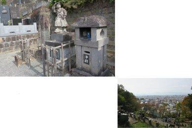 自刃の地と鶴ヶ城方面
