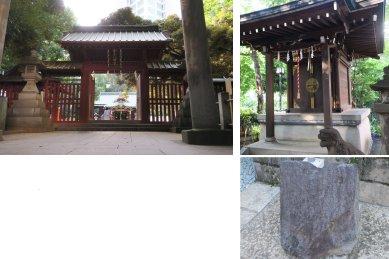 金王八幡宮(神門・御影堂・渋谷城城石)