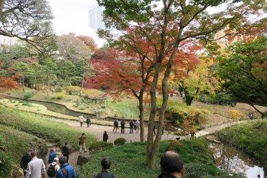 愛宕坂から神田上水跡を見下ろす