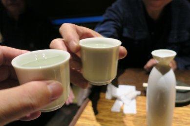 珍しく日本酒で乾杯