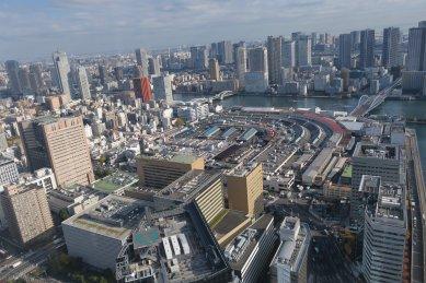 築地市場、築地大橋と勝鬨橋