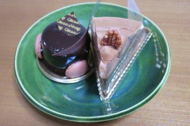 ケーキon総織部釉皿