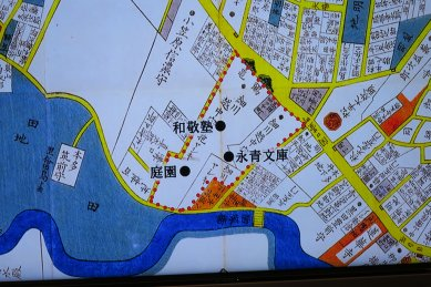 和敬塾・永青文庫の位置