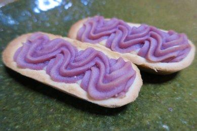 紅芋タルトonG織部釉皿