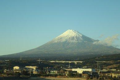 車窓の富士山