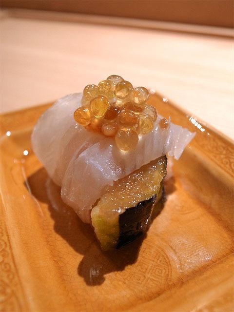 150820吉乃-メイチダイ 揚げ浸しの茄子 球体オリーブオイル