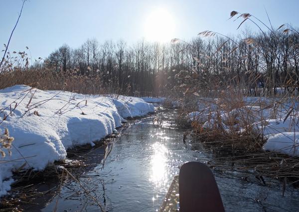 カヌーで真冬のパンケナイ川へ01