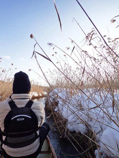 カヌーで真冬のパンケナイ川へ06