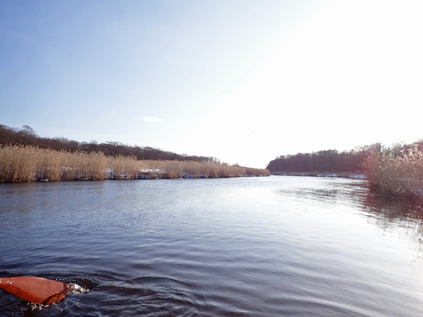 カヌーで真冬のパンケナイ川へ07