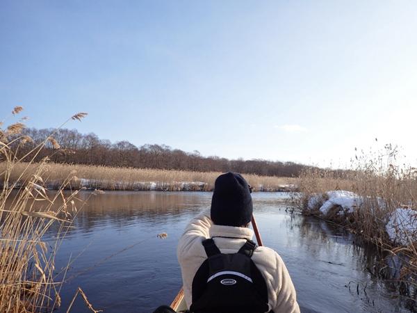 カヌーで真冬のパンケナイ川へ10