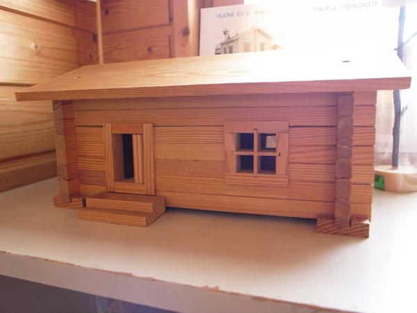 フィンランドログハウスの模型01