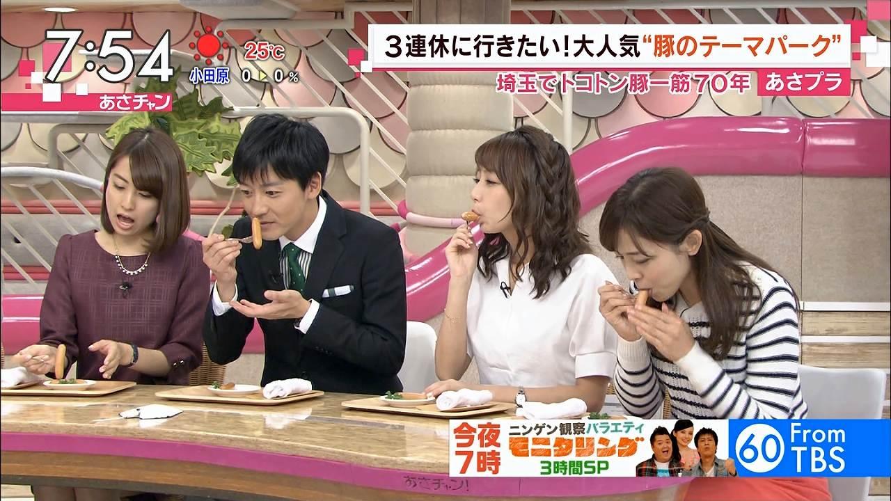TBS「あさチャン」でウインナーを食べる宇垣美里の疑似フェラ