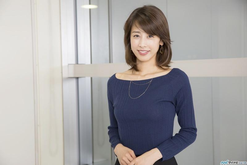 ニットを着た加藤綾子アナ